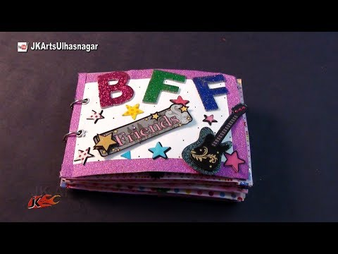 How to make a Scrapbook for a best friend | Friendship Day Gift Idea | JK Arts 1028