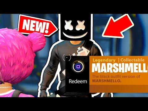 NEW! How to get the BLACK MARSHMELLO Outfit in Fortnite: Battle Royale *NEW* Easter egg in FORTNITE!