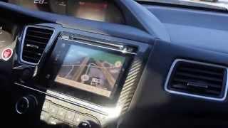 2015 Honda Civic Si - HTC One M9 Google Maps Navigation Operation.  Mirror Link Free HD Video