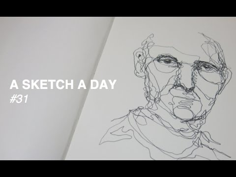 Line Art Portrait : Continuous line drawing of a man youtube