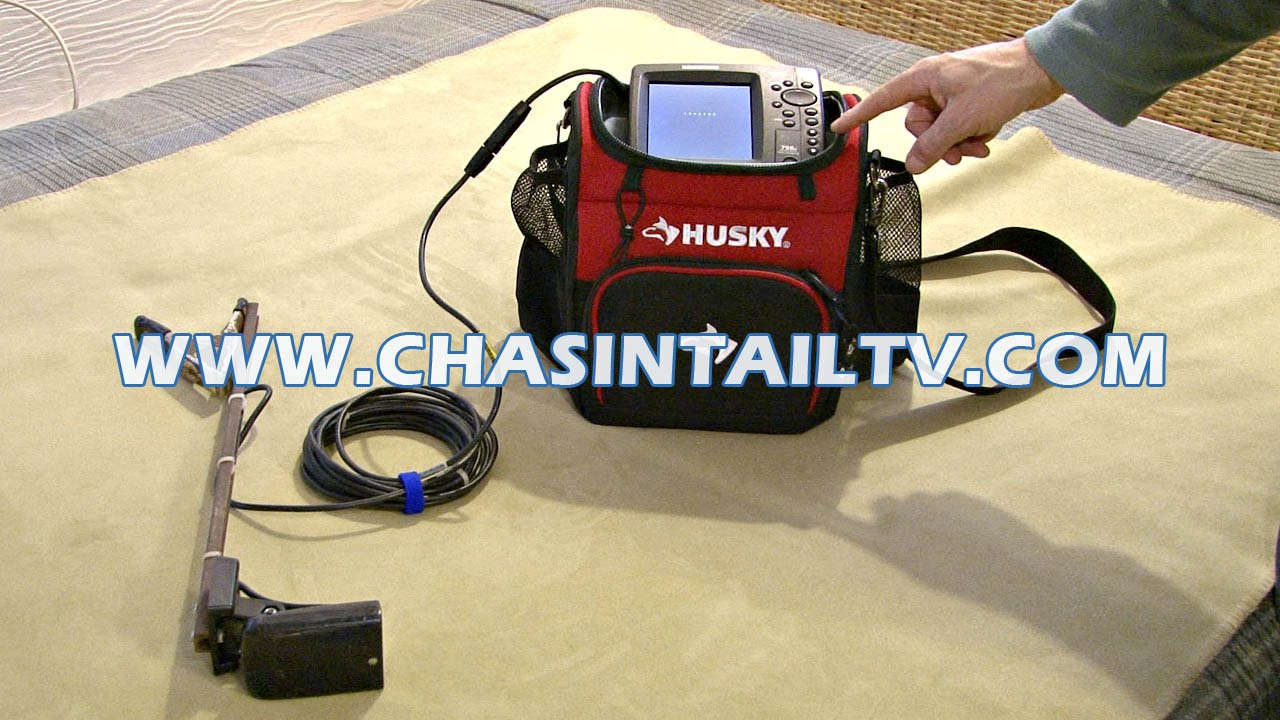 how to make your fishfinder portable | chasin' tail tv - youtube, Fish Finder