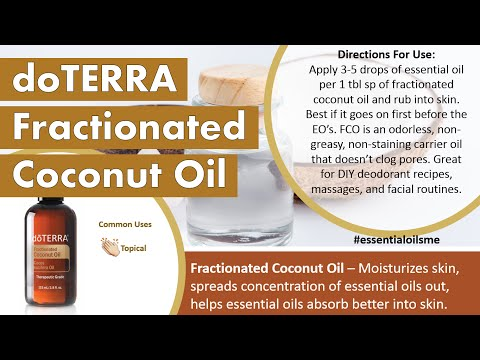 Top 3 doTERRA Fractionated Coconut Oil Uses
