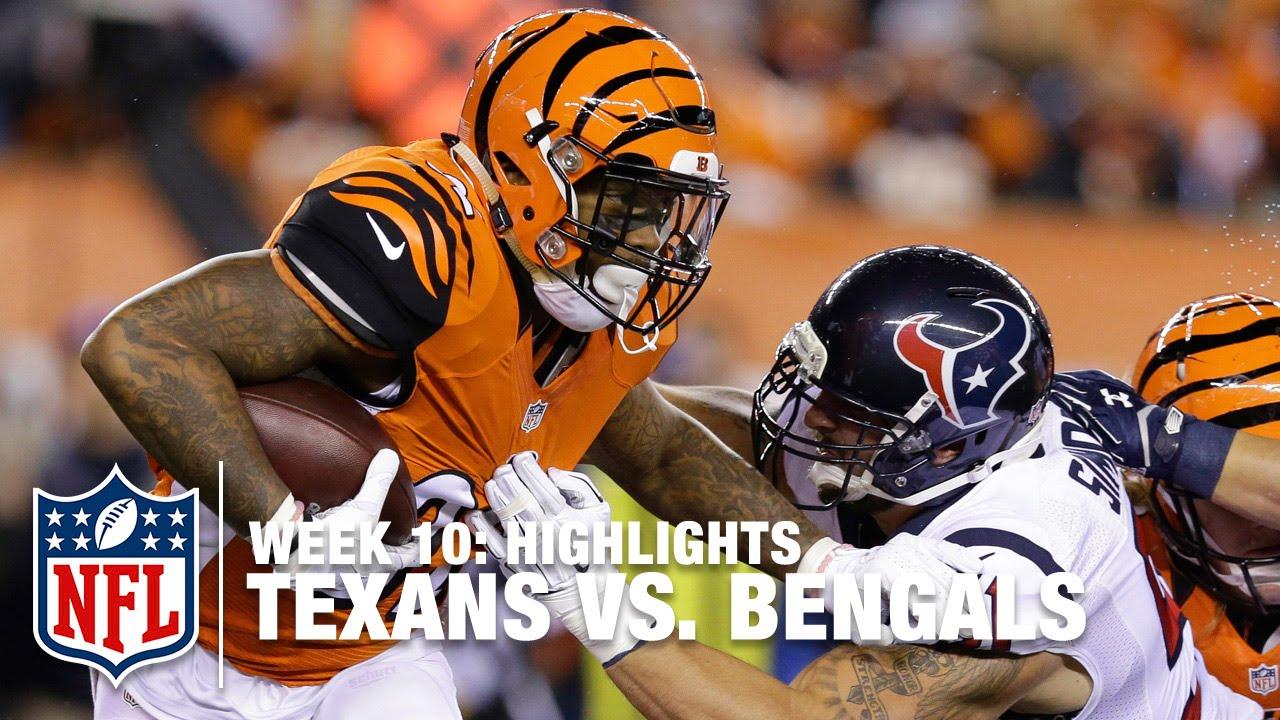 616581b6 Texans vs. Bengals (2015) | Week 10 Highlights | NFL