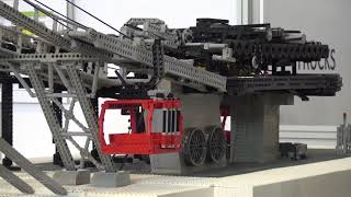 Unique LEGO Technic Aerial Cableway with 17'000 Bricks