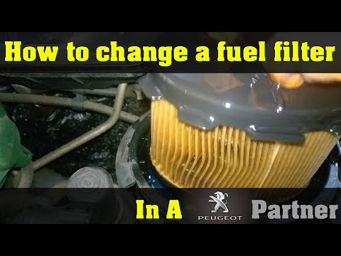 Peugeot Partner 2005 fuel filter replacement – How To DIY