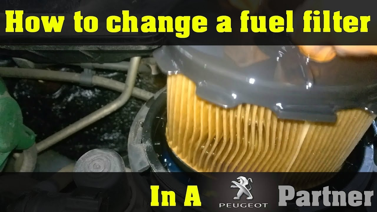 Peugeot Partner 2005 fuel filter replacement - How To DIY