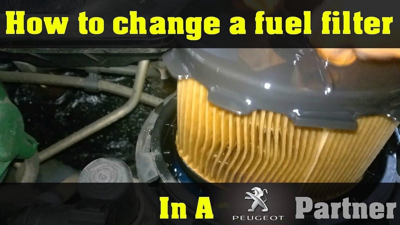 peugeot partner 2005 fuel filter replacement how to diy [ 1280 x 720 Pixel ]