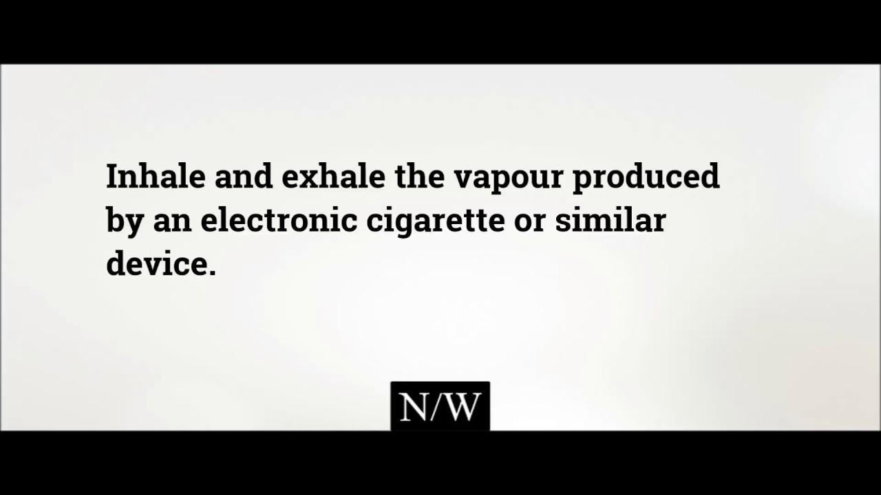 what is vape? vape meaning - vape definition - improve english
