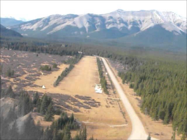 Ram River falls Alberta  airfield