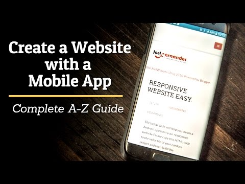 Create a Website & Android Mobile App for your Business Easy Tutorial for Beginners.