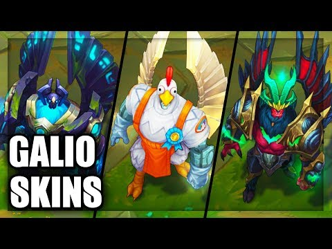 All Galio Skins Spotlight (League of Legends)