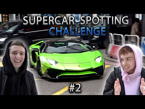 Supercars in London February 2020! - Supercar Spotting Challenge #2 ft. @SCOOT SUPERCARS