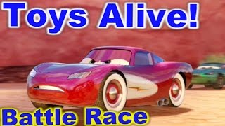 Cars 2: The video Game - Radiator Lightning - Battle Race on Timberline Sprint.