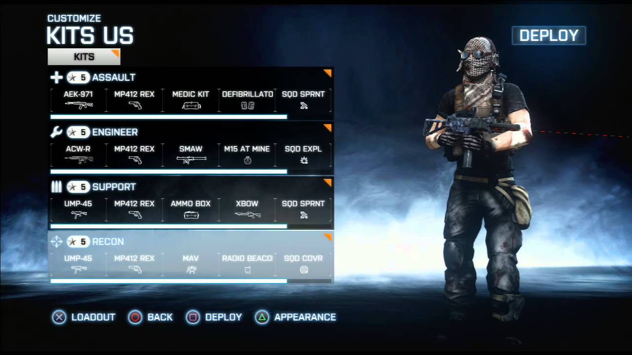 Battlefield 3 Multiplayer Characters