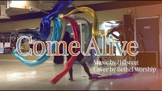 Come Alive by Hillsong Cover by Bethel Worship // Streamers Flags Dance ft Claire CALLED TO FLAG