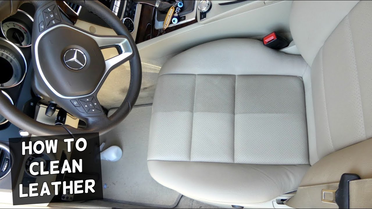 Car Leather Cleaner >> HOW TO CLEAN CAR LEATHER SEATS. AMAZING RESULTS - YouTube