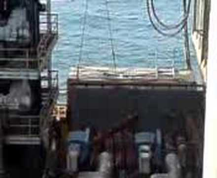 Offshore Oil Rig Crane Work #2