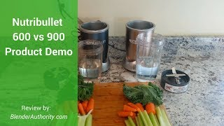 Nutribullet 600 vs 900 Pro Review - Full comparison and Green Smoothie Test