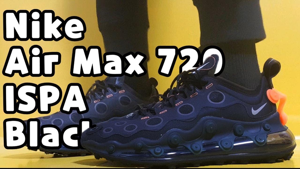 nike air max 720 ispa black reflective