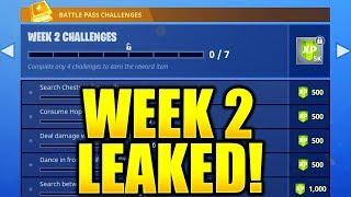 FORTNITE SEASON 5 WEEK 2 CHALLENGES LEAKED! WEEK 2 ALL CHALLENGES EASY GUIDE SEASON 5 BATTLE PASS!