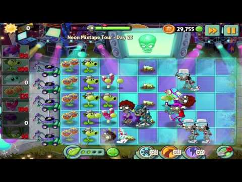 Plants vs Zombies 2: Neon Mixtape Tour - Day 23 Walkthrough