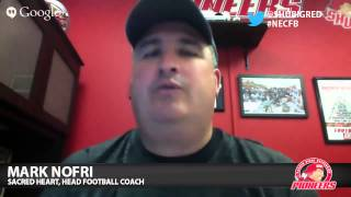 Google Hangout With Sacred Heart Head Football Coach Mark Nofri