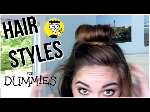 3 Easy Hairstyles for Dummies! TAKE LESS THAN 3 MINUTES! Short and Long Hair | Chelsea Crockett