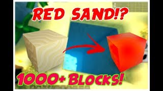 RED SAND!!?! DIGGING 1000+ BLOCKS DEEP Roblox | Treasure Hunt Simulator