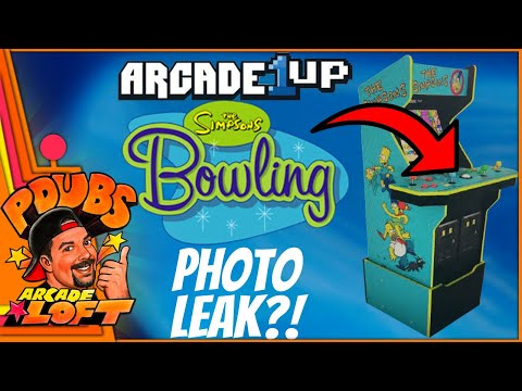 Arcade1Up The Simpson's Cabinet Photo Leak!! Does it confirm Simpson's Bowling?! from PDubs Arcade Loft