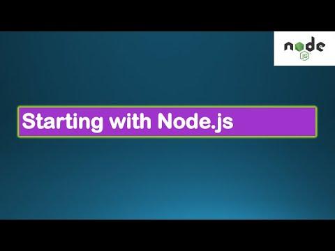 Node.js Tutorials #1 - Starting with Node - First Node.js code, modules, exports
