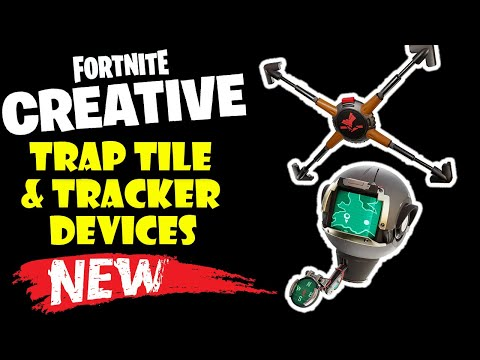 How To Use The NEW Trap Tile And Tracker Devices In Fortnite Creative Update V11.30