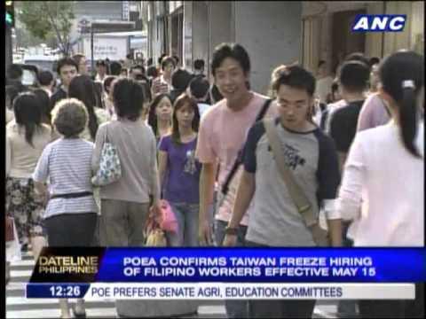POEA confirms Taiwan freeze order on OFWs