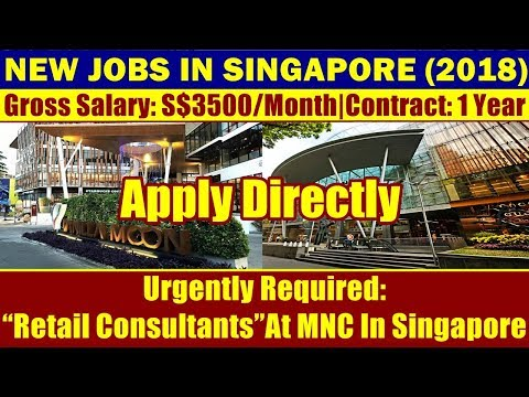 "Jobs In Singapore: ""Retail Consultants"" At MNC In Singapore 