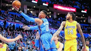 Carmelo 27 Points! Westbrook Fancy Crossover! Kuzma Injury, Lakers vs Thunder 2017-18 Season
