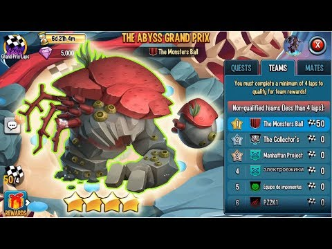 Monster Legends Koralle Brutalis Level 120 The Abyss Grand Prix Analysis Review