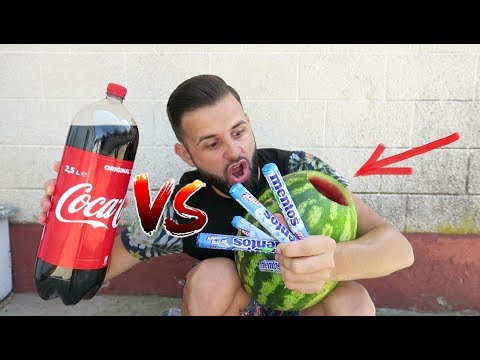 Coca Cola & Mentos vs. Pepene ( Explodează ? )