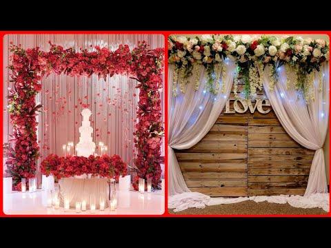 Latest Flower Arrangment Ideas,Backdrop Flower Arrangment,Wedding Decoration Ideas