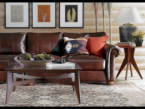 Ethan Allen Leather Sofa - YouTube