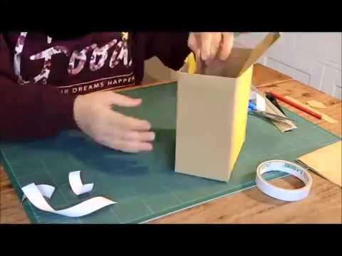 Tutorial come rivestire una scatola youtube for Rivestire una scatola