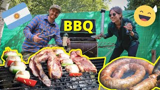 GRINGOS TRY MAKING AN ARGENTINE BBQ ASADO...It Doesn't Go So Well! ???