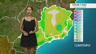 Confira o acumulado dechuvapara os próximos dias no Brasil