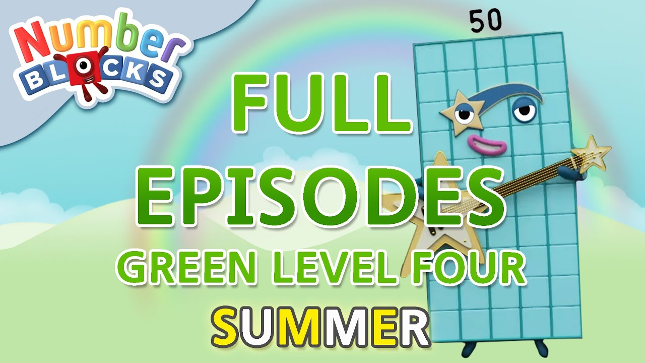 Download @Numberblocks- #SummerLearning - Green Level Four | Full Episodes 4-5