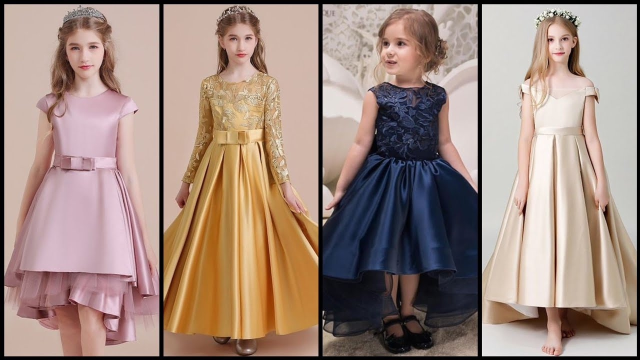 Simple Scoop Neck Sleeveless Satin Flower Girl Dresses With Bow Sash
