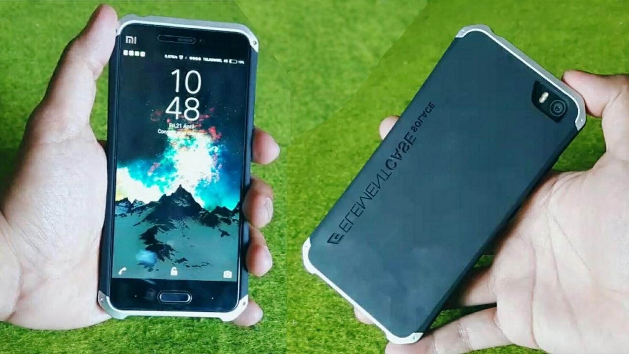 low priced fd486 66736 Elements Case Solace Xiaomi Mi 5