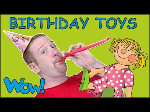 Birthday Toys for Kids from Steve and Maggie   Free Speaking Stories Wow English TV