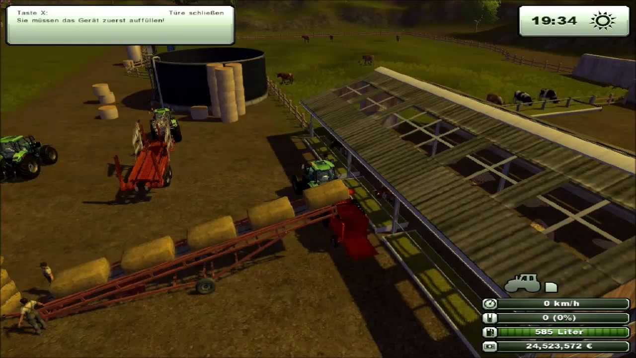 landwirtschafts simulator 2013 f rderband f r ballen youtube. Black Bedroom Furniture Sets. Home Design Ideas