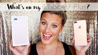 What's on my Rose Gold 128GB iPhone 7 Plus?! || The Lash Babe