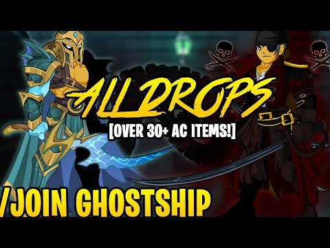 AQW - /JOIN GHOSTSHIP (ALL Sea Witch's Curse BOSS Drops & ALL Monster Drops) + ITEM Showcase!