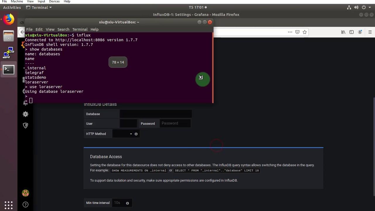 Setup Loraserver [6] - Display data on Grafana with InfluxDB Integration