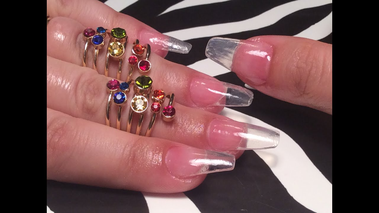 Acrylic Nails - Full Set at Home - - YouTube